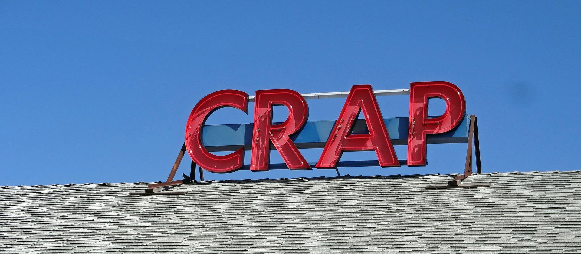 SIgn saying Crap. How many people feel at work